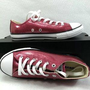 Converse CTAS Ox Pink Pop Low Top Sz 5 Brand New